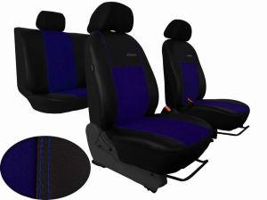 Autopotahy Citroen C4 PICASSO II, od r. 2010, 5 míst,kožené s alcantarou, EXCLUSIVE modré