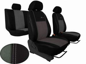 Autopotahy Citroen C4 PICASSO II, od r. 2010, 5 míst,kožené s alcant.EXCLUSIVE světlé šedé