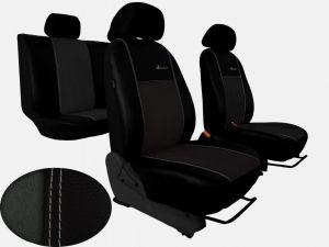 Autopotahy Citroen C4 PICASSO II, od r. 2010, 5 míst,kožené s alcant. EXCLUSIVE tmavě šedé