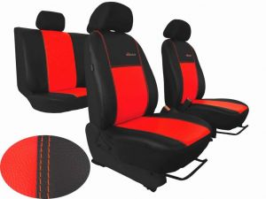 Autopotahy Citroen C4 PICASSO II, od r. 2010, 5 míst, kožené EXCLUSIVE červené