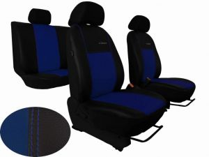Autopotahy Citroen C4 PICASSO II, od r. 2010, 5 míst, kožené EXCLUSIVE modré