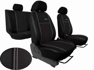 Autopotahy Citroen C4 PICASSO II, od r. 2010, 5 míst, kožené s alcantarou, EXCLUSIVE černé