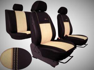 Autopotahy Citroen C4 PICASSO II, od r. 2010, 5 míst, kožené s alcantarou EXCLUSIVE béžové
