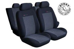 Autopotahy Seat Alhambra II, od r. 2010, 5 míst, dětská sedačka,šedo černé LUX STYLE