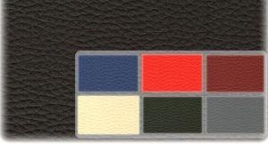 Autopotahy Škoda Fabia II, kožené EXCLUSIVE černočervené, nedělené zadní sedadla