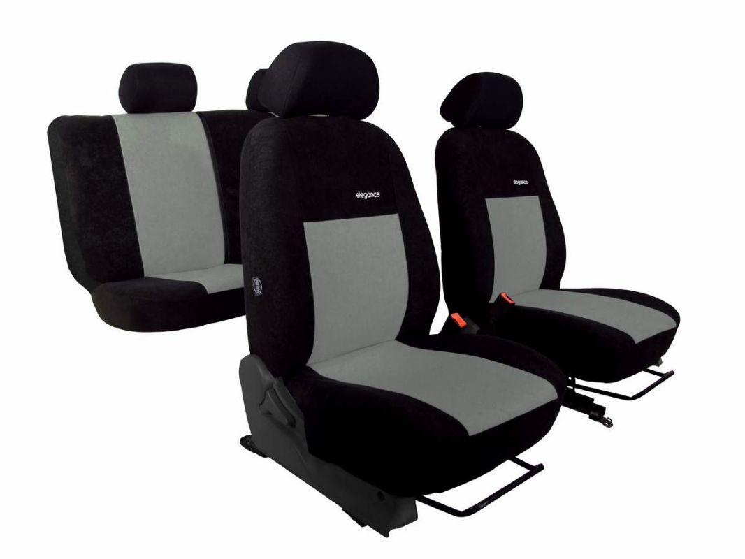 Autopotahy Volkswagen Amarok, ELEGANCE ALCANTARA černošedé