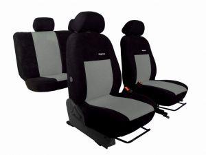 Autopotahy Volkswagen Caddy III, 5 míst, od r. 2003, ELEGANCE ALCANTARA černošedé