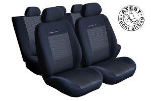 Autopotahy Seat Toledo III, od r. 2005, dělené zadní opěradlo, černé