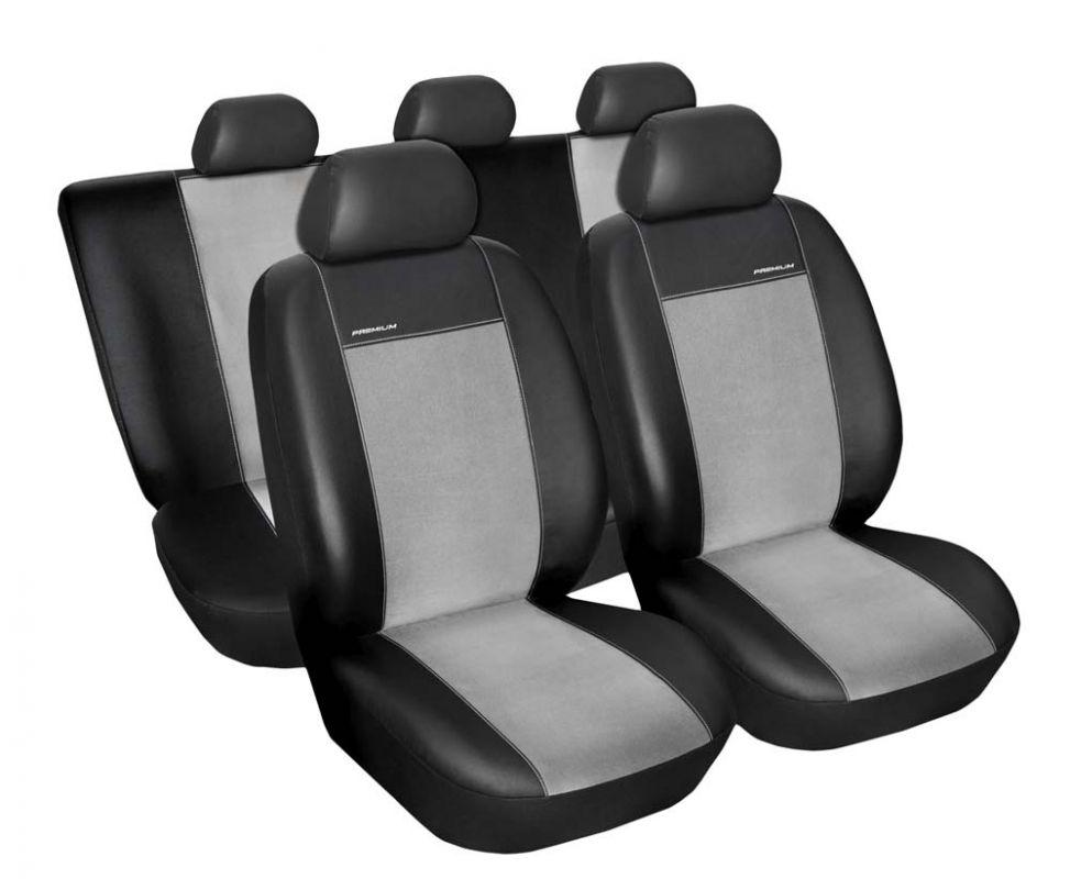 Autopotahy Dacia Duster I, od r.v. 2010-2013, Eco kůže + alcantara šedé Vyrobeno v EU
