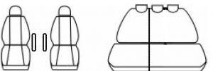 Autopotahy Peugeot Partner II, od r. 2008, Eco kůže + alcantara černé Vyrobeno v EU