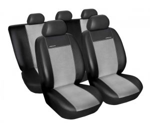 Autopotahy Seat Leon II, od r. 2005, Eco kůže + alcantara šedé