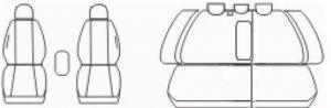 Autopotahy Škoda Octavia II, dělená s loketní op. Eco kůže + alcantara černé