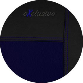 Autopotahy kožené s alcantarou EXCLUSIVE modré