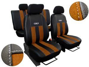 Autopotahy Ford C- MAX, od r. 2003-2010, 5 míst, kožené s alcantarou, GT hnědé