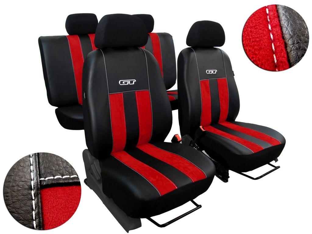 Autopotahy Ford C- MAX, od r. 2003-2010, 5 míst, kožené s alcantarou, GT červené