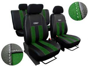 Autopotahy kožené s alcantarou GT zelené