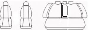 Autopotahy Opel Insignia, od r.2008, šedo černé