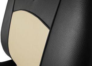 Autopotahy Škoda Octavia I, kožené Tuning, vzadu dělené, se zadní loket. opěrkou, béžové