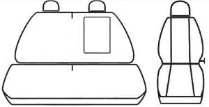 Autopotahy Fiat Ducato II, 3 místa, od r.2006, šedo černé Vyrobeno v EU