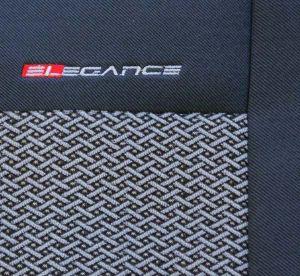 Autopotahy Fiat Seicento dělené, od r.1998-2005, šedo černé Vyrobeno v EU