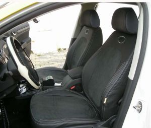 Autopotahy kožené MAZDA 3 II, 5 dveř, od r. 2009, kůže a alcantara