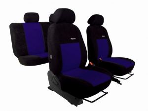 Autopotahy Peugeot Boxer II, 3 místa, stolek, ELEGANCE ALCANTARA, modré