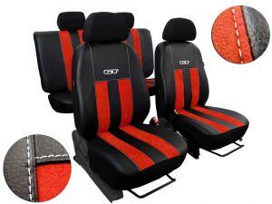 Autopotahy Peugeot Boxer II, 3 místa, stolek, GT kožené s alcantarou, cihlové