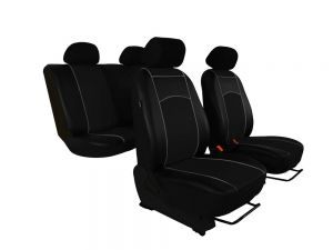 Autopotahy Peugeot Boxer II, 3 místa, stolek, od r. 2006,kožené TUNING, černé