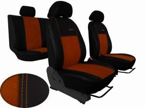 Autopotahy Volkswagen VW Crafter,3 místa, stolek , EXCLUSIVE kožené s alcantarou, hnědé