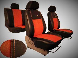 Autopotahy Volkswagen VW Crafter,3 místa, stolek , EXCLUSIVE kožené s alcantarou, cihlové
