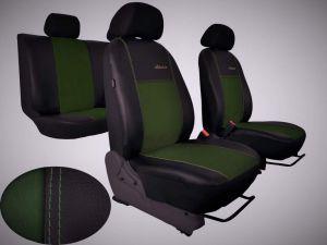 Autopotahy Volkswagen VW Crafter,3 místa, stolek, EXCLUSIVE kožené s alcantarou, zelené