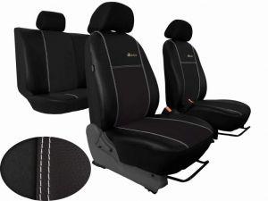 Autopotahy Volkswagen VW Crafter,3 místa, stolek , EXCLUSIVE kožené s alcantarou, černé