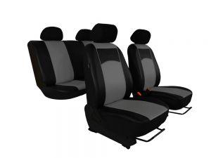 Autopotahy Volkswagen VW Crafter,3 místa, stolek, kožené TUNING, šedé
