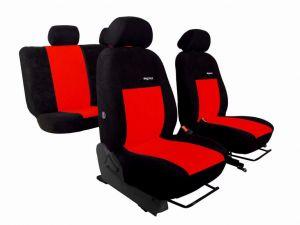Autopotahy Volkswagen VW T5, 3 místa, ELEGANCE ALCANTARA, červené