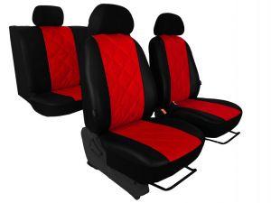 Autopotahy Ford C- MAX I, od r. 2003-2010, 5 míst, kožené EMBOSSY červené