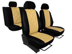 Autopotahy Nissan Qashqai I, bez zadní loketní opěrky, od r. 2006-2010, EMBOSSY béžové