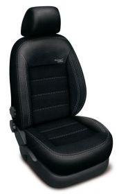 Autopotahy Ford Focus  III, bez zadní loketní opěrky, AUTHENTIC VELVET, černé
