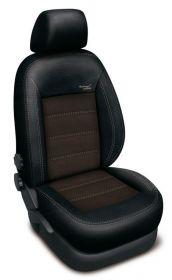 Autopotahy Ford Focus  III, bez zadní loketní opěrky, AUTHENTIC VELVET, černohnědé