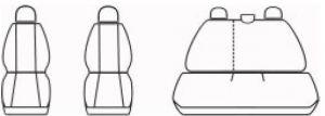 Autopotahy Dacia DUSTER I, od r. 2010-2013, Dynamic žakar tmavý
