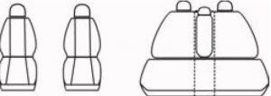Autopotahy OPEL MERIVA I, od r. 2002-2010, Dynamic žakar tmavý