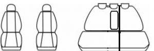 Autopotahy Peugeot 407, se zadní loketní opěrkou, SW, od r. 2004-2011, Dynamic žakar tmavý