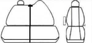 Autopotahy RENAULT MASTER IV,dělené dvojopěradlo a sedadlo, od r.2010, Dynamic žakar tmavý