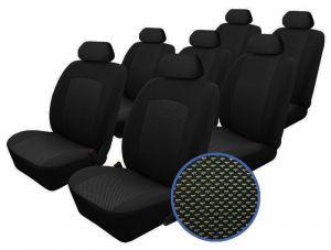 Autopotahy Seat Alhambra, od r. 1994-2010, 7 míst, Dynamic žakar tmavý