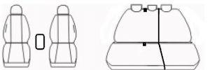 Autopotahy SEAT IBIZA IV, DĚLENÁ, od r. 2008, Dynamic žakar tmavý