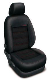 Autopotahy FORD C-MAX II GRAND,5 míst, od r. 2011, AUTHENTIC DOBLO žakar červený