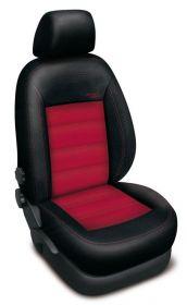 Autopotahy FORD RANGER, půlená zadní lavice, od r. 2007, AUTHENTIC VELVET černočervené
