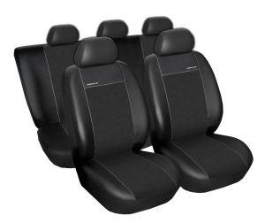 Autopotahy Volkswagen Caddy III, od r. 2004, Eco kůže + alcantara černé