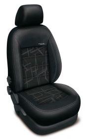 Autopotahy Ford Mondeo IV, bez zadní loket. op.,od r. 2007, AUTHENTIC DOBLO, matrix černý