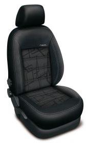 Autopotahy Ford Mondeo IV, bez zadní loket. op.,od r. 2007, AUTHENTIC DOBLO, matrix šedý