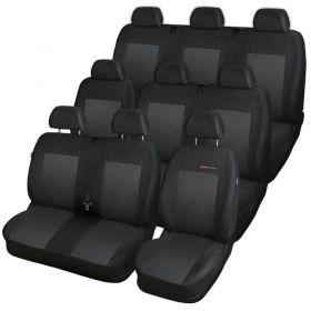 Autopotahy Opel Vivaro II,9 míst, dělený dvojsedák v 1 řadě(1+2+3+3), od r. 2014, černé